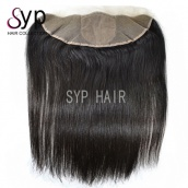 13x4 Silk Lace Frontal Closure Bleached Knots Brazilian Virgin Remy Straight Human Hair For Sale