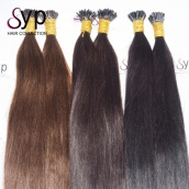 Pre Bonded Keratin i tip Straight Best Real Virgin Remy Human Hair Extensions 0.5g/Strand 100 Strands/Pack