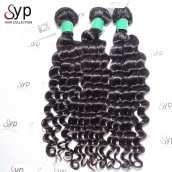 Tissage Cheveux Humain Mongolian Deep Wave Real Virgin Remy Human Hair Extensions 3 or 4 Bundles Natural Black Color