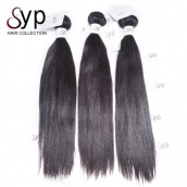 Luxury Brazilian Yaki Straight Virgin Remy Human Hair Extensions Tangle Free 3 or 4 Bundles Hair Weave Websites