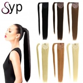 Wrap Around Human Hair Ponytail Extension For White And Black Women