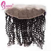 13x4 Ear To Ear Lace Frontal Closure Bleached Knots Curly Virgin Human Hair Weave Cheap Wholesale Price