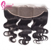 Virgin Brazilian Body Wave Human Hair Ear To Ear Lace Frontal Closure 13x4 Bleached Knots With Baby Hair