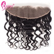 Cheap Ear To Ear Virgin Human Hair Loose Wave Lace Frontal Closure 13x4 With Baby Hair And Bleached Knots For Sale