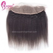 Brazilian / Peruvian Kinky Straight 13x4 Lace Frontal 3 Part / Free Part / Middle Part From Virgin Remy Hair Company