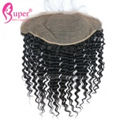 13x6 Deep Wave Frontal Natural Brazilian Virgin Remy Human Hair Ear To Ear Lace Frontals Free Part