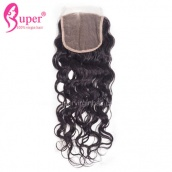 4X4 Swiss Lace Top Closures Water Wave 100 Virgin Human Hair Best Weave Closure Piece
