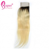 Blond Hair Ombre Ideas 1b 613 Straight Virgin Human Hair Lace Closure