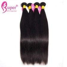 Best Real Virgin Remy Malaysian Straight Human Hair Extensions Bundle Deals Natural Color