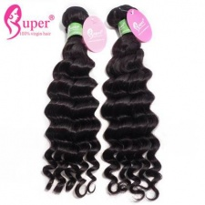 Natural Human Hair Deep Wave Premium Peruvian Virgin Remy Hair Extensions 3 or 4 Bundle Deals For Sale Cabelo Humano