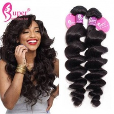 Best Virgin Remy Indian Loose Wave Human Hair Extensions 3 or 4 Bundle Deals Tissage Cheveux Humain