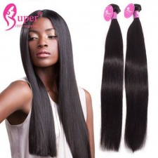 Premium Raw Virgin Remy Indian Straight Human Hair Extensions 3 or 4 Bundle Deals Natural Color Cheap Wholesale Price