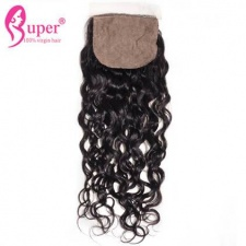 4x4 Silk Base Closure Bleached Knots Water Wave Best Weave Closures Free Part Middle Part 3 Part