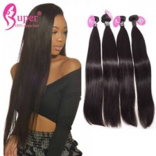Unprocessed Best Burmese Straight Human Virgin Remy Hair Weaveing Natural Black 3 or 4 Bundles