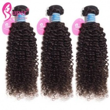 Brazilian Kinky Curly Weave Virgin Remy Human Hair Extensions 3 or 4 Bundle Deals Luxury Quality Natural Black Color Cabelo Humano