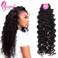 3 or 4 Bundle Deals Deluxe Standard Italian Curly Weave Cheap Virgin Remy Human Hair Extensions Natural Black Color