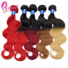 Colored Ombre Brazilian Body Wave Cheap Human Hair Extensions 3 or 4 Bundle Deals For Sale