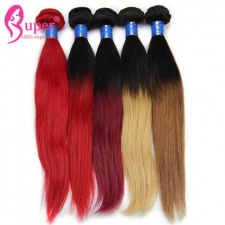 Ombre Brazilian Straight Human Hair Extensions 3 or 4 Bundle Deals Colored Hair Weaving Cheap Wholesale Price