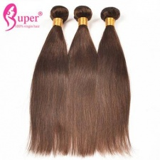 Light Brown Best Real Weft Virgin Coloured Human Hair Extensions For Sale With Affordable Price