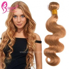 #27 Blonde Body Wave Color Hair Weave Bundles 100 Remy Human Hair