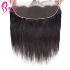 Unprocessed Straight Virgin Human Hair Lace Frontal Closure 13X4 With Baby Hair Natural Part For Sale