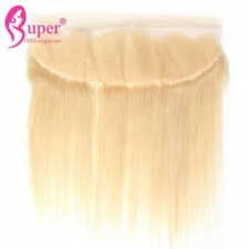 613 Blonde Ear To Ear Lace Frontal Closure 13x4 Best Straight Human Hair With Baby Hair