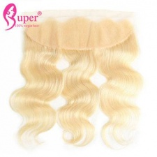 613 Honey Blonde Virgin Human Hair Body Wave Ear To Ear Lace Frontal Closure 13x4