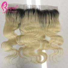 Ear To Ear Lace Frontal Closure 13x4 Brazilian Body Wave Ombre Color 1b 613 Blonde