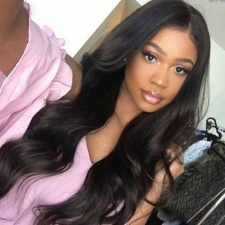 Natural Human Hair Lace Front Wigs For Black Women Body Wave 180% Density