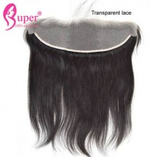Transparent Lace Frontal Closure 13x4 Unprocessed Brazilian Straight Virgin Human Hair Natural Black Color
