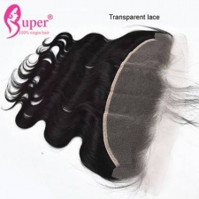 Transparent Lace Frontals 13x4 Ear To Ear Peruvian Body Wave Virgin Human Hair Natural Hairline