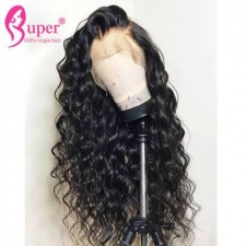 13x6 Lace Frontal Human Hair Wigs For Black Women Natural Wave Baby Hair 130% Density