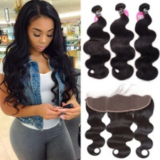 Burmese Body Wave Human Hair Bundles With Lace Frontal 13x4 All Virgin Hair Reviews