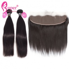 Natural Straight Hair With Lace Frontal Closure 13x4 Best Burmese Virgin Hair For Sale