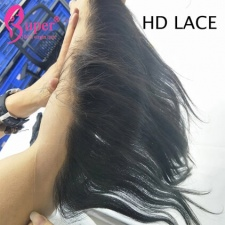 HD Swiss Thin Skin Lace Frontal 13x4 Raw Virgin Human Hair Brazilian Straight