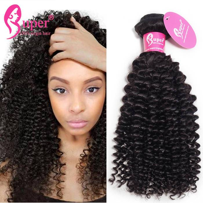 Afro Kinky Curly Brazilian Remy Virgin Human Hair Weave
