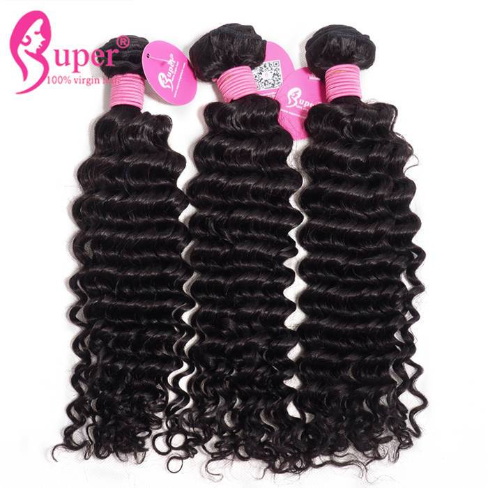 Curly Weave Human Hair Extensions Tissage Bresilienne