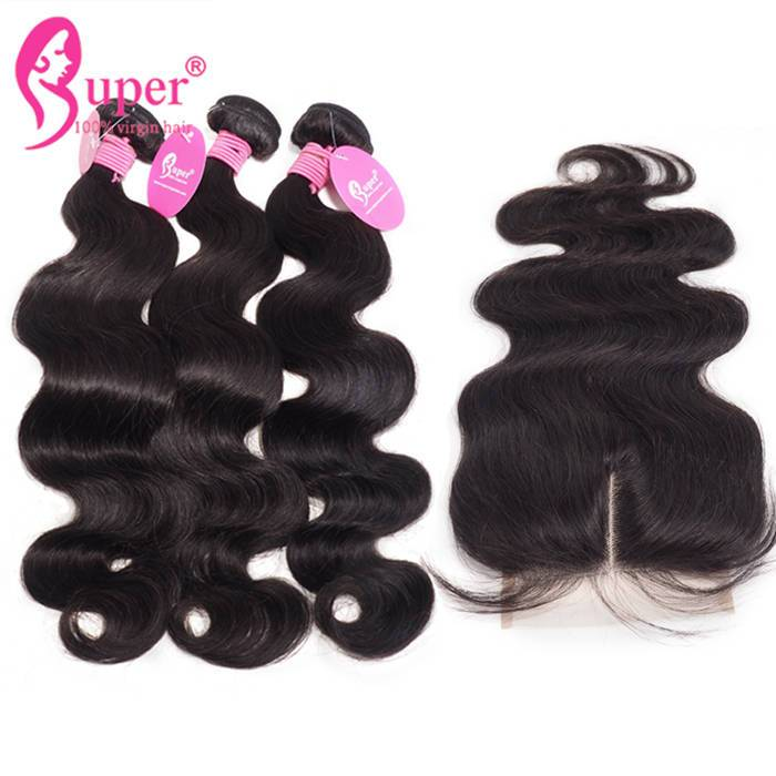 Body Wave Hair Extensions Bundles With Lace Closure