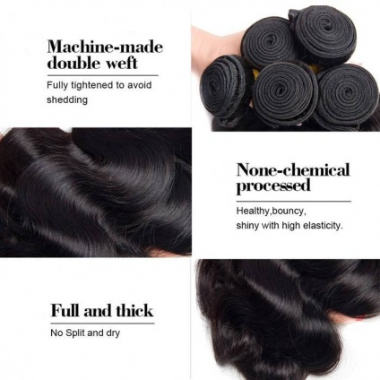 body wave hair weft