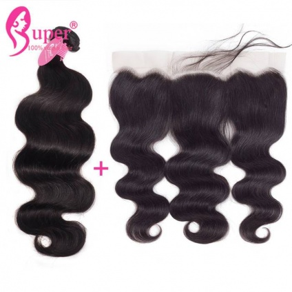 cheap brazilian hair bundles with frontal