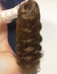 light brown human hair lace wig